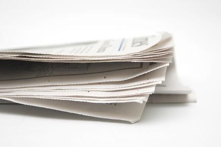 Newspaper on white