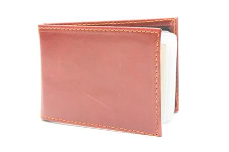 pocketbook: Brown pocketbook Stock Photo