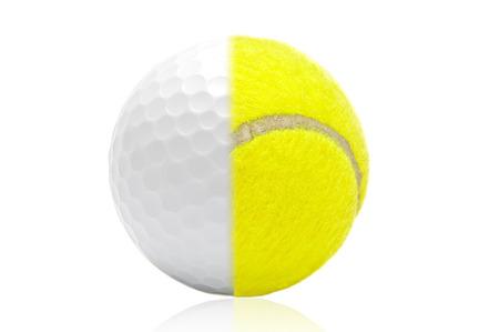 Tennis, Golfball Lizenzfreie Bilder