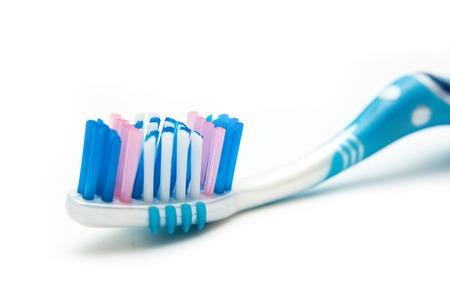 using voice: Tooth-brush closeup Stock Photo