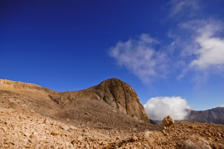 mountainside: Red mountainside Stock Photo