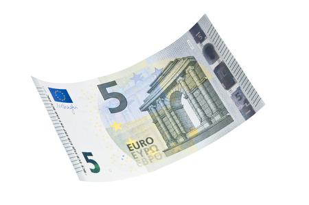 5 euro banknote Imagens