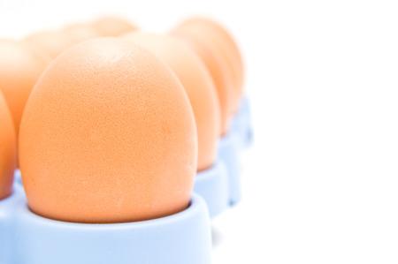 Eggs macro.Front focus photo