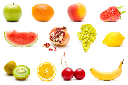 Set of different fruits photo