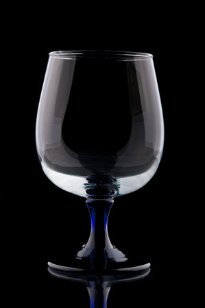 bar ware: Wineglass closeup on black background Stock Photo