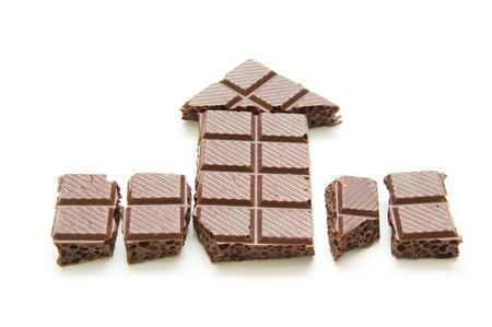 porous: Pieces porous chocolate Stock Photo
