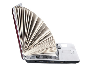 repository: Laptop as a book on white background