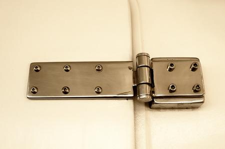 hinge: Door hinge Stock Photo