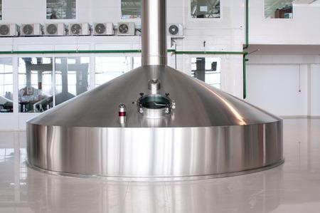 Fermentation vats on brewery plant Stock Photo - 26716934