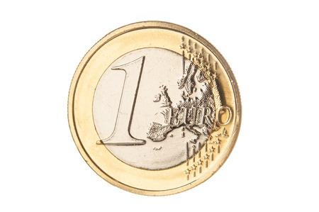 Eine Euromünze Nahaufnahme