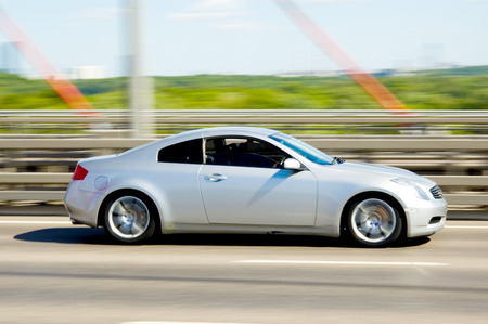 Fast car moving