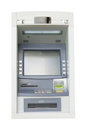 bankomat: ATM on white background