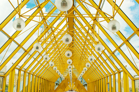 celling: Yellow glass celling