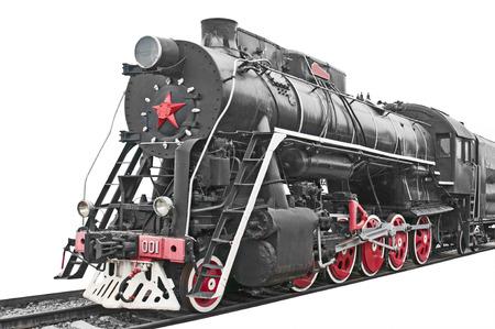 Antike Dampflokomotive
