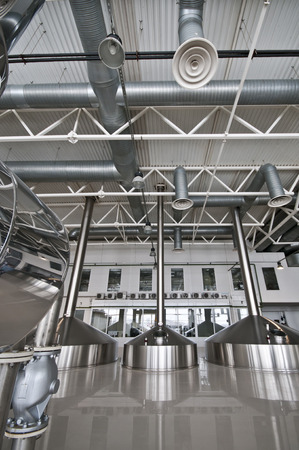 tun: MOSCOW, RUSSIA - MAR 23: Brewhouse of the plant the Moscow Brewing Company which was founded in 2008. Mar, 23, 2013 at Moscow, Russia