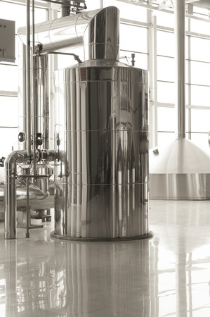 vats: Fragment of brewery Stock Photo