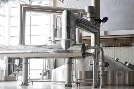 Fermentation vats on modern brewery