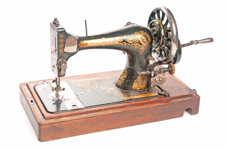stitching machine: Antique sewing-machine  Stock Photo