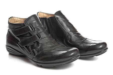male fashion: Male fashion shoes on white background  Stock Photo