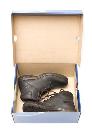 Pair of shoes in box photo