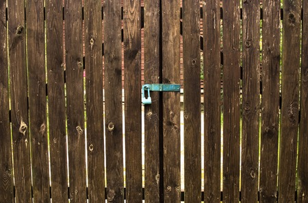 fense: Brown gate