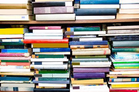 regiment: Books on a regiment Stock Photo