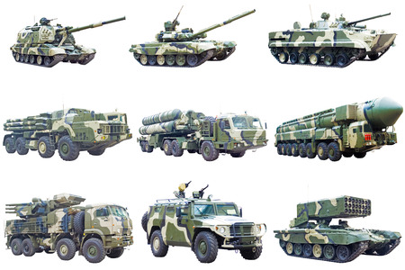 Set of military engineries Stock Photo
