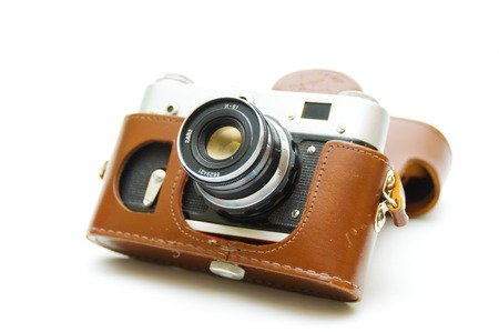 bayonet: Old film camera Stock Photo