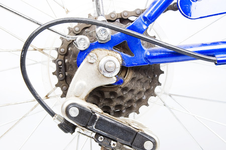 shifting: Bicycle gears closeup