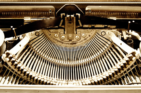 Old typewriter closeup photo