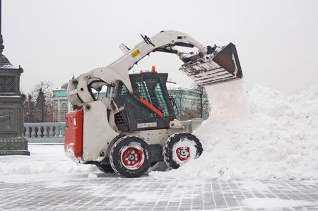 除雪機 写真素材
