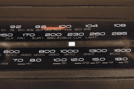 tune: Classic radio tune panel Stock Photo
