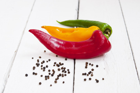 peppercorn: Colored peppers and peppercorn