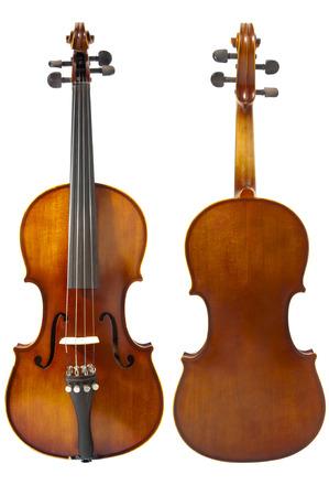 violins: Two violins on white background