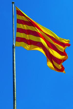 Katalonien-Flagge Standard-Bild - 29569994