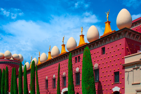 FIGUERAS, SPAIN - JUNE 15, 2014: Dali Museum in Figueres, Spain. Museum was opened on September 28, 1974 and houses largest collection of works by Salvador Dali.