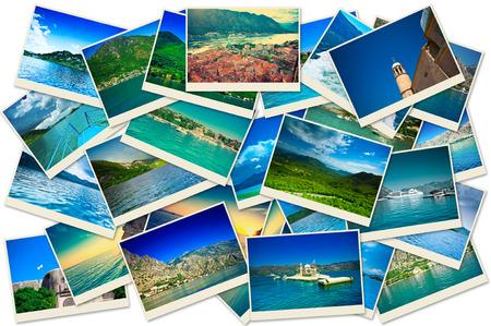 Stack of Montenegro travel photos photo