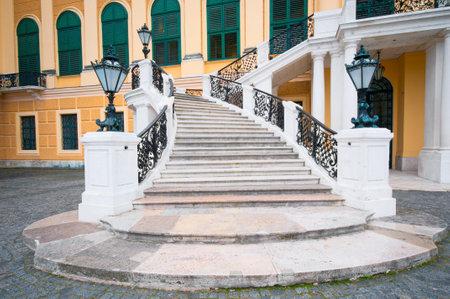 Staircase of Schonbrunn castle in Vienna, Austria