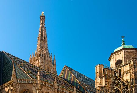 Dom St. Stephan in Wien, Österreich. Katholische Kathedrale, Österreich Nationalsymbol und das Symbol Wien Standard-Bild - 33422694