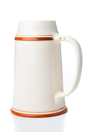 stein: Beer stein on white background