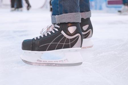 skater: Ice skater Stock Photo