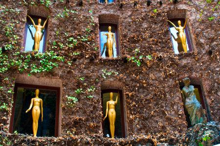 Particolare di Dali Museum in Figueres, Spagna. Editoriali