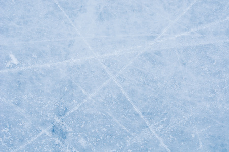 Ice texture on the skating rink