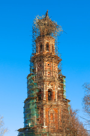 belfry: Novodevichy Convent in Moscow. Burned Belfry