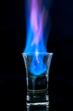 flaming: Flaming vodka