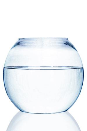 fishbowl: Fishbowl on white background