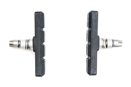 v cycle: Cycle brake pads on white background Stock Photo