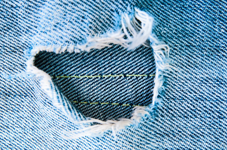 worn jeans: Blue torn jeans Stock Photo