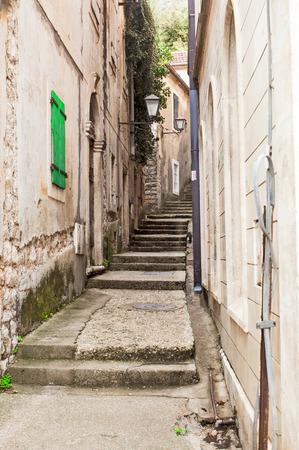 Old stone stairs in Herceg Novi, Montenegro photo