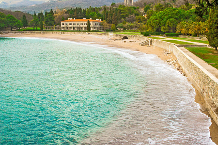 Sea shore in Montenegro photo